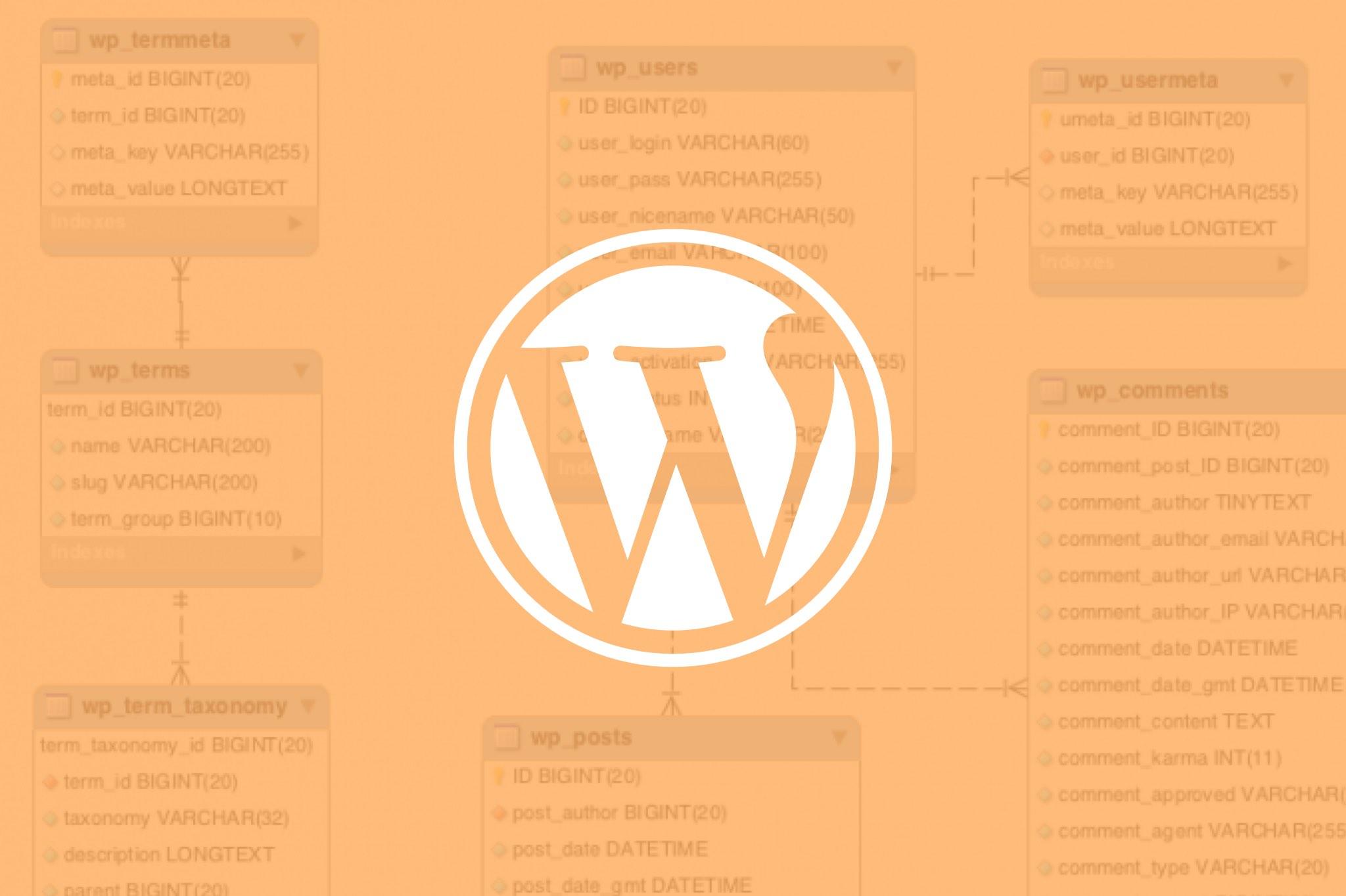 wordpress base de datos