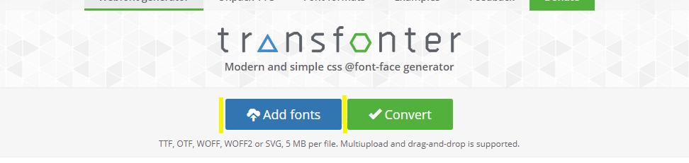 Add font